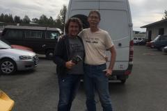 Bruce der Chef von Arctic Car Repair hat uns super geholfen