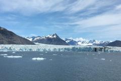 Gletscher endet im Wasser, sehr beeindruckend